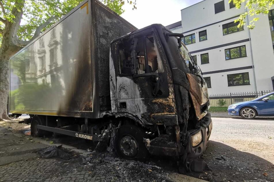 In der Bleicherstraße hat in der Nacht zu Freitag ein Laster gebrannt.