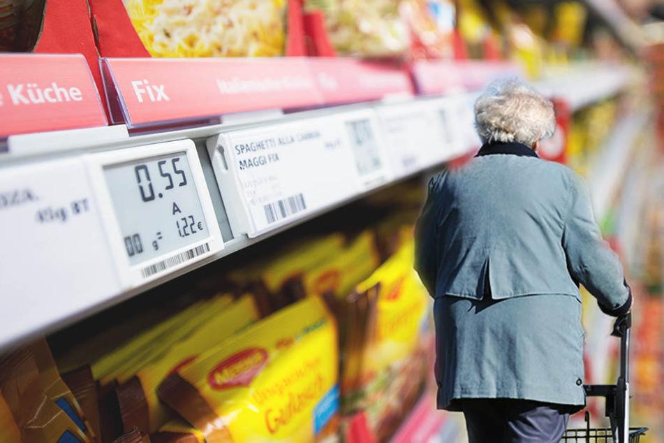Eine 60-jährige versuchte in einem Supermarkt in Markranstädt, ohne zu bezahlen davonzukommen.