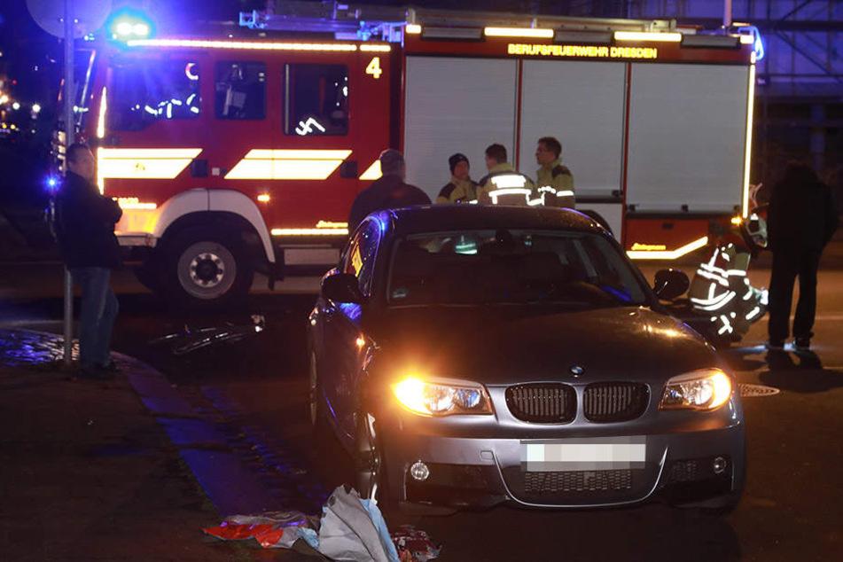 Ein BMW-Fahrer erfasste in Dresden -Löbtau einen Radler.