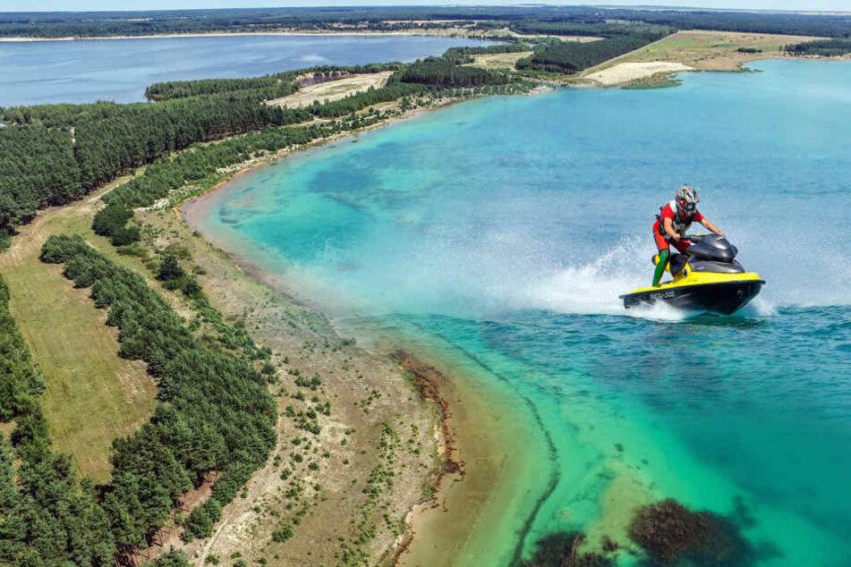 Karibik-Flair in der Lausitz! Ein See verkalkt in Türkis