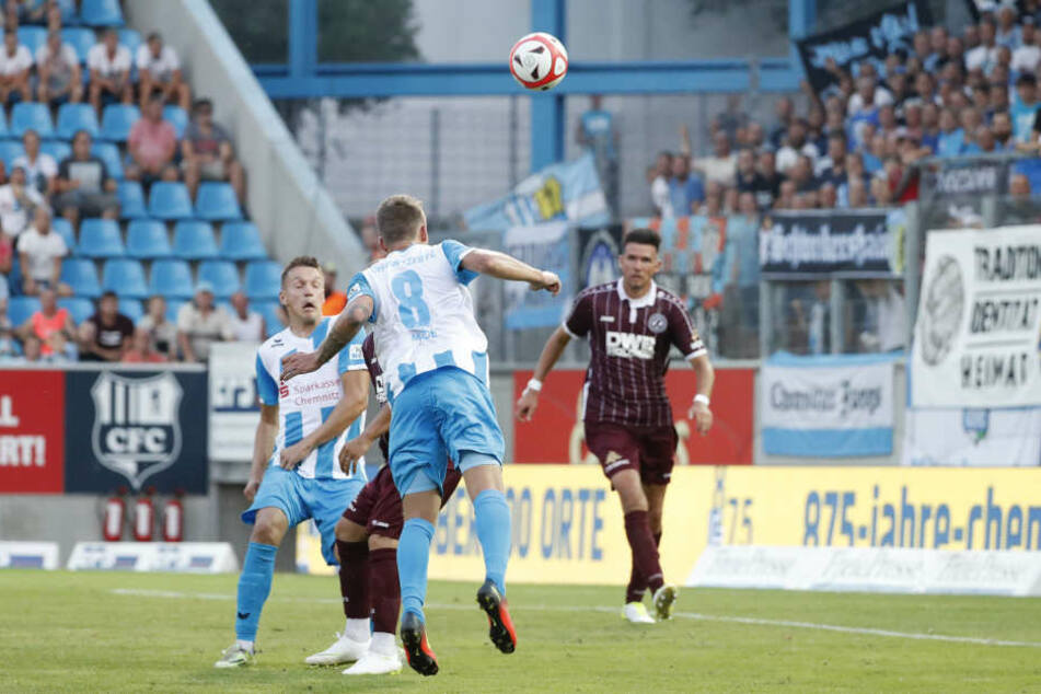 Paul Milde köpfte das erlösende 2:0 gegen den BFC Dynamo.