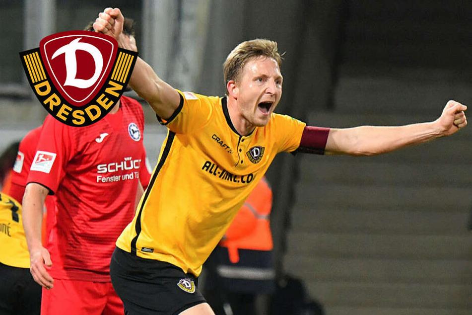 Kapitän Hartmann marschiert voran! Belohnt sich Dynamo gegen Bielefeld?