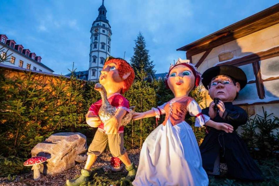 Auch das Märchen von der Goldenen Gans kann in diesem Jahr von den Besuchern in Lebensgröße bestaunt werden.