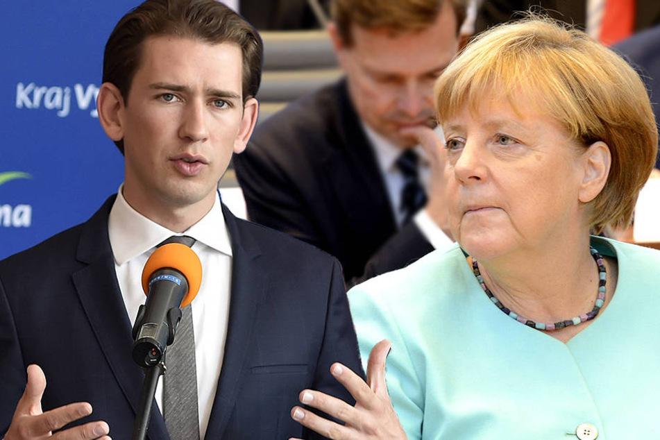 Österreichs Außenminister Sebastian Kurz (30) rügt Angela Merkels(62, CDU) Flüchtlings-Aufnahmekonzept.