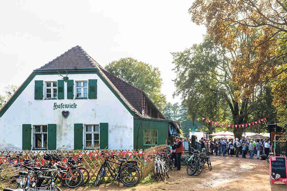Noch läuft auf der Hofewiese eine  provisorischer Außenwirtschaft. Das Haupthaus ist noch nicht saniert.