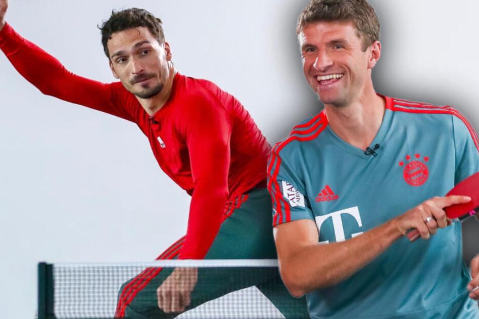 Mats Hummels (l.) und Thomas Müller (r.) duellieren sich an der Platte. (Bildmontage)