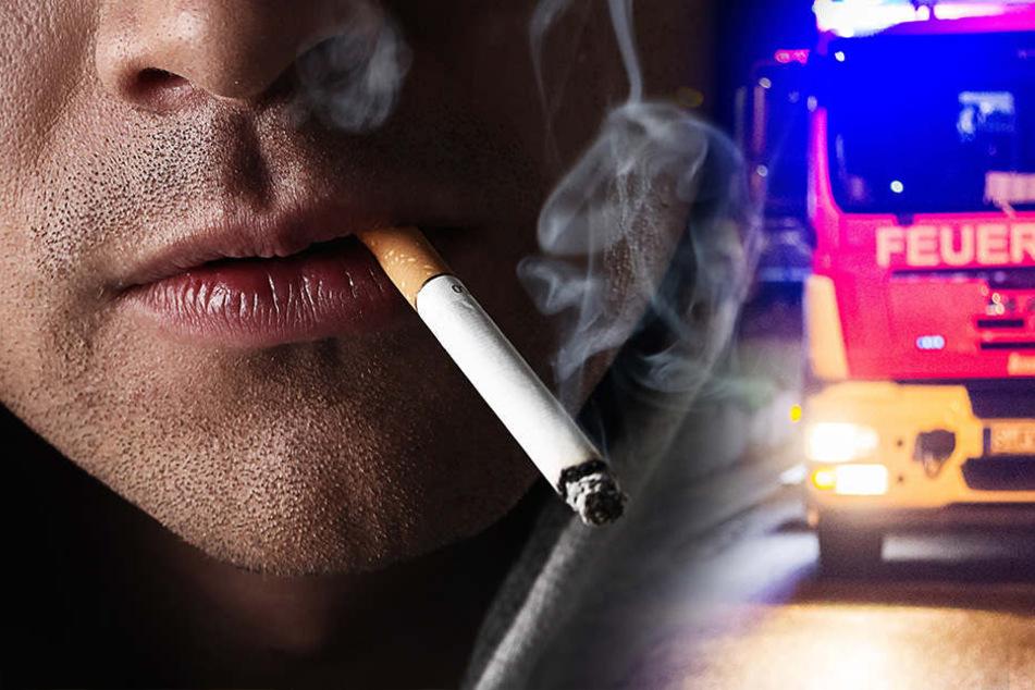 betrunkener-schl-ft-mit-glimmender-zigarette-ein-und-l-st-brand-aus