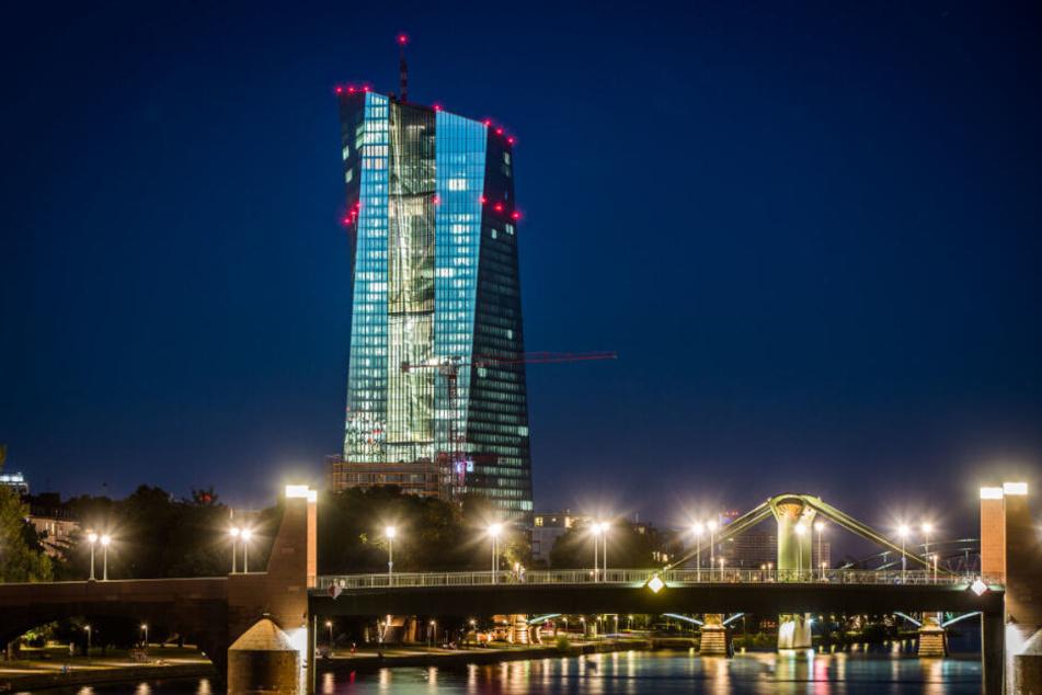 Die Zentrale der Europäischen Zentralbank (EZB) in Frankfurt am Main.