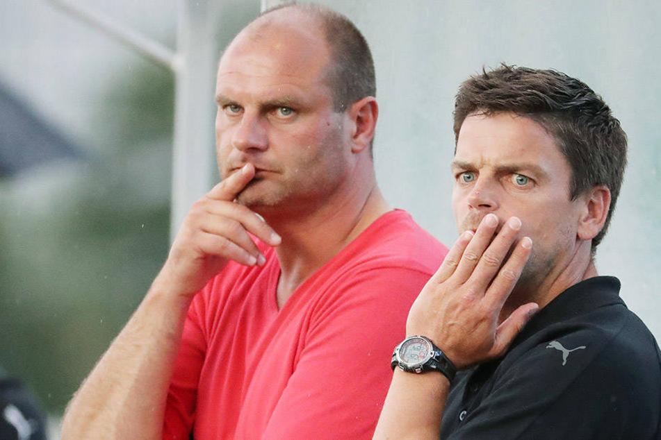 FSV-Sportchef David Wagner (l., mit Coach Torsten Ziegner) kümmert sich derzeit um Verstärkungen und ein mögliches Trainingslager.