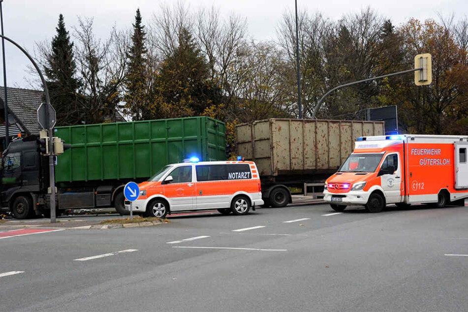 Notärzte haben das Unfallopfer umgehend versorgt.