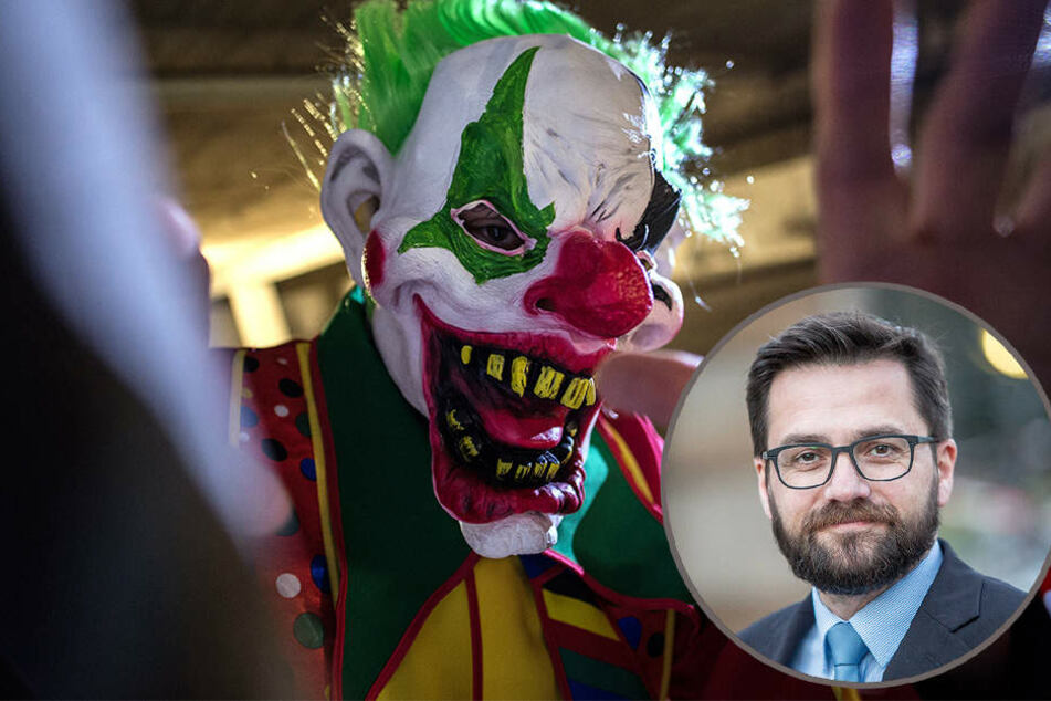 Nordrhein-Westfalens Justizminister droht Horror-Clowns mit bis zu einem Jahr Gefängnis.