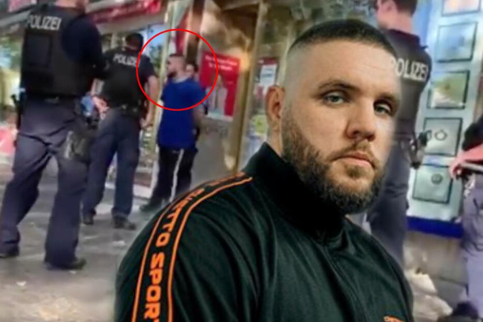 Mit angelegten Handschellen: Rapper Fler musste vorübergehend festgenommen werden.