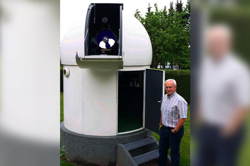 Eberhard Poguntke interessiert sich schon seit Jahrzehnten für das Weltall. Jetzt möchte er eine Volkssternwarte nach Borchen holen.