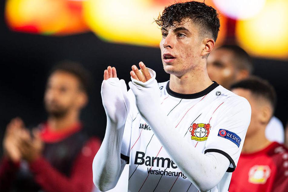 Leverkusens Kai Havertz soll im Fokus vom FC Barcelona und des FC Bayern München stehen.