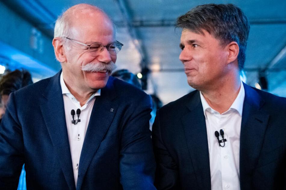 Daimler-Vorstandsvorsitzender Dieter Zetsche (links) und BMW-Vorstandschef Harald Krüger.