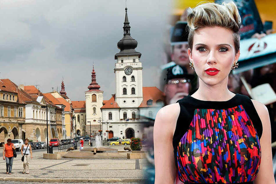 Scarlett Johansson dreht Kriegssatire an sächsischer Grenze