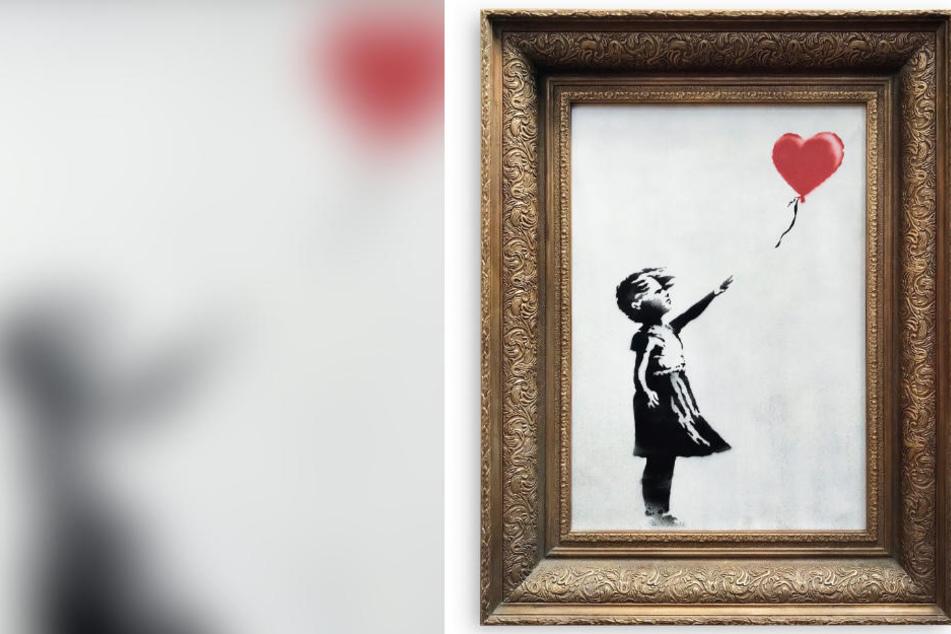 "Das Werk ""Girl With Balloon""."