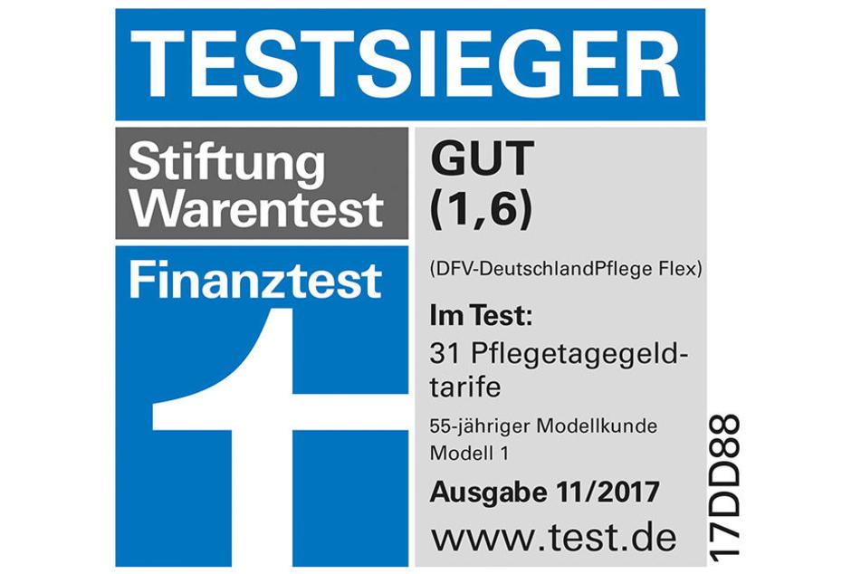 """Die """"DFV DeutschlandPflege"""" wurde in allen Altersklassen zum Testsieger mit Note hervorragend gewählt!"""