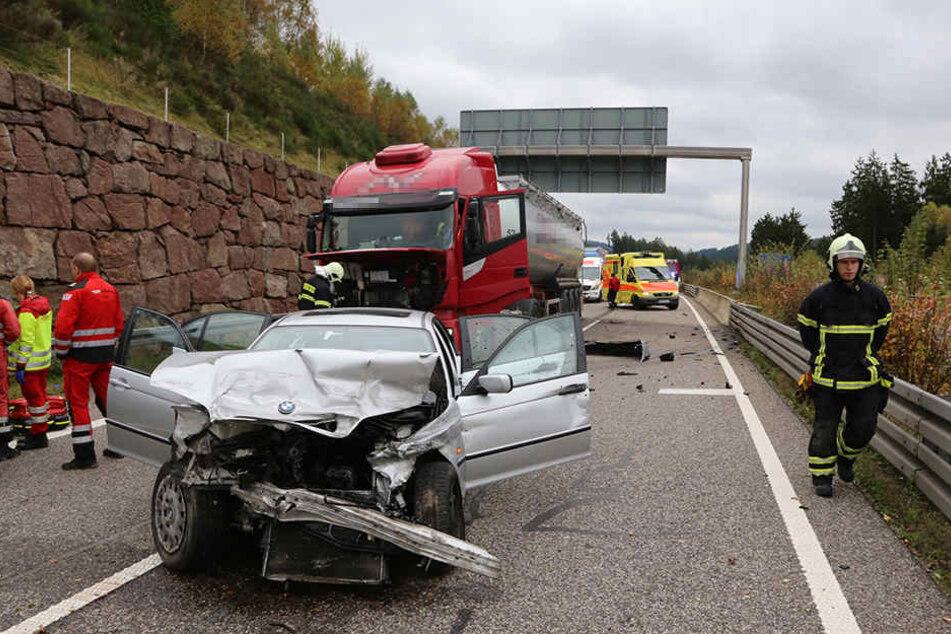 Bei Suhl kam es am Nachmittag zu dem schweren Unfall.
