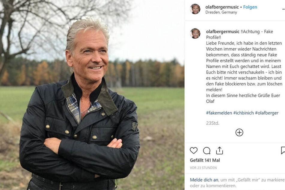 Schlagerstar Olaf Berger (55) warnt seine Fans vor Fake-Profilen.
