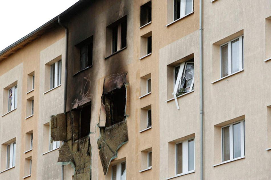 Zu der schweren Explosion kam es am 7. Oktober 2017 in einer Wohnung in einem Mehrfamilienhaus im Leipziger Stadtteil Meusdorf.
