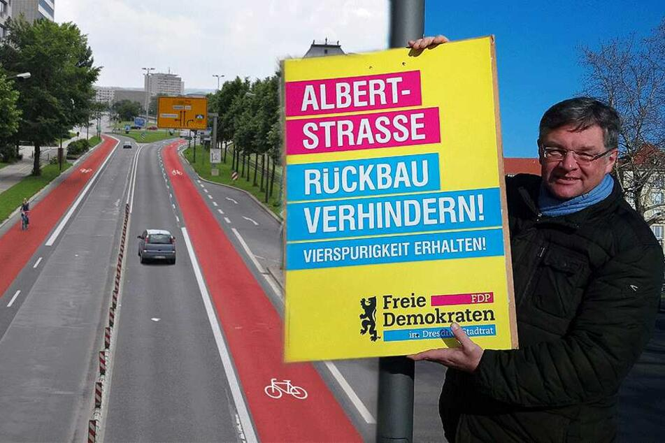 Radspuren an der Albertstraße? FDP-Zastrow macht dagegen mobil