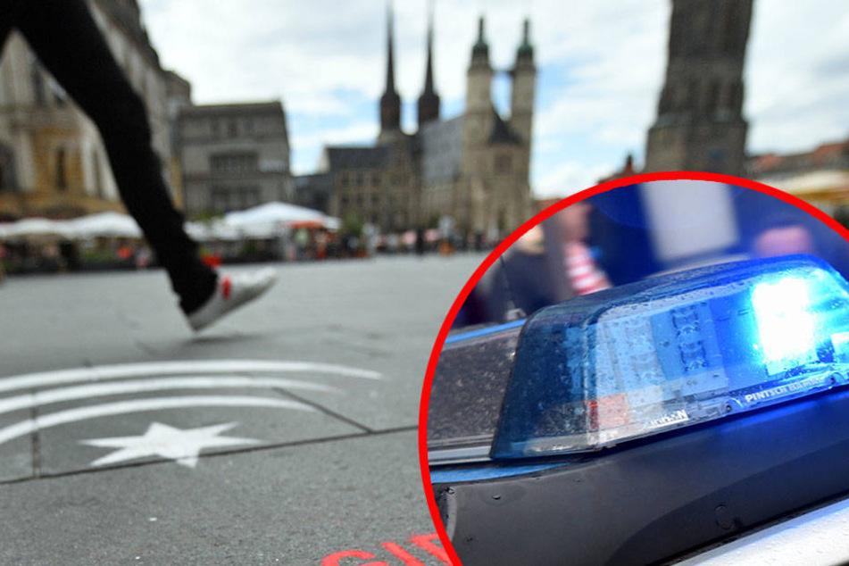 Auf dem Marktplatz in Halle (Saale) ging am Mittwochnachmittag ein 17-jähriger auf eine Gruppe Jugendlicher los. (Symbolbild)