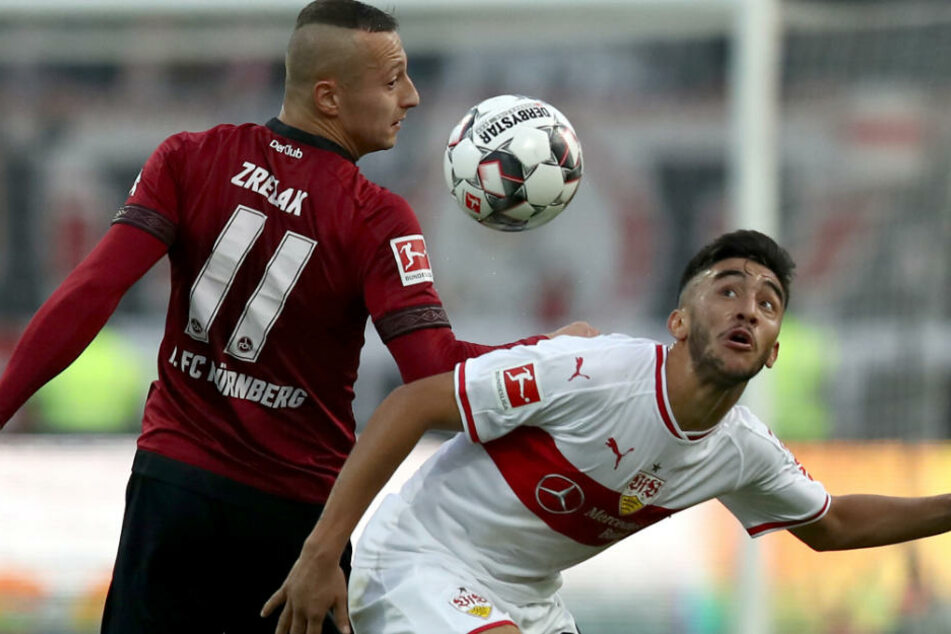 Nicolás González (r.) zeigte auch heute gegen die Nürnberger wieder gute Aktionen.