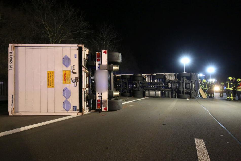 A3 bei Siegburg nach LKW-Unfall noch lange gesperrt