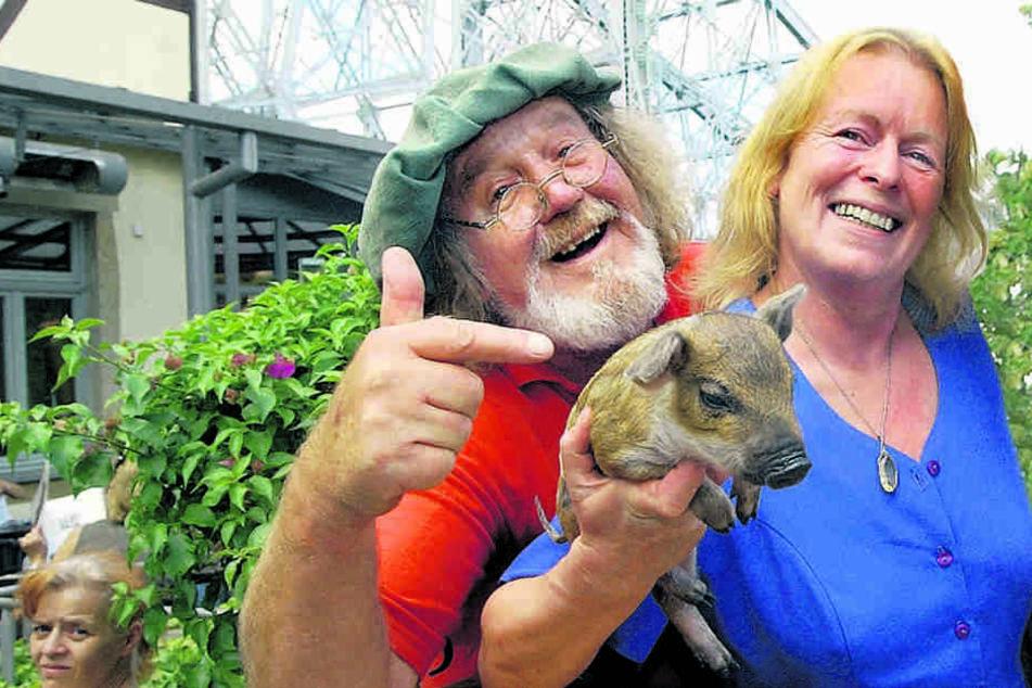 2006: Jochen Schalk mit seiner Sylvia Freifrau von Gravenreuth. Sie lebten  zwar getrennt, blieben aber Freunde.