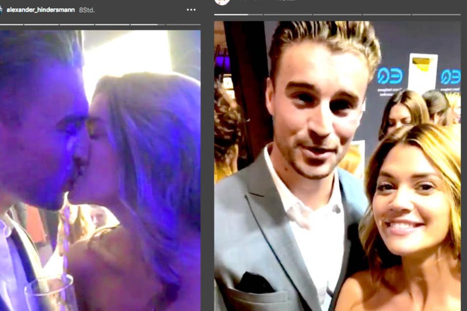 """Bei der """"Tribute to Bambi""""-Benefizveranstaltung zeigten sich Nadine Klein (33) und Alexander Hindersmann (30) schwer verliebt."""