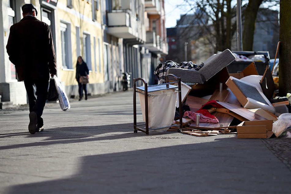Am Freitag, Samstag und wohl auch Montag bleibt der Müll in Leipzig liegen.