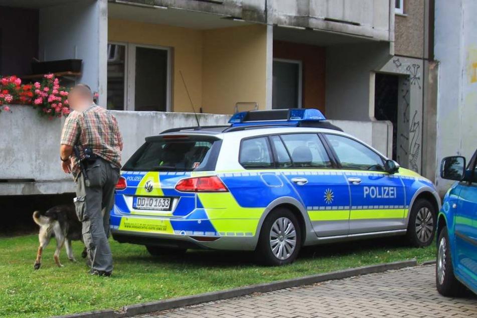 Am Tatort kam auch ein Drogenspürhund zum Einsatz.