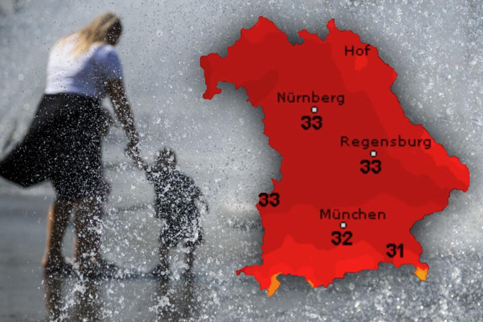 Abkühlung? Ist nicht in Sicht! So wird das Wetter zum Wochenstart in Bayern