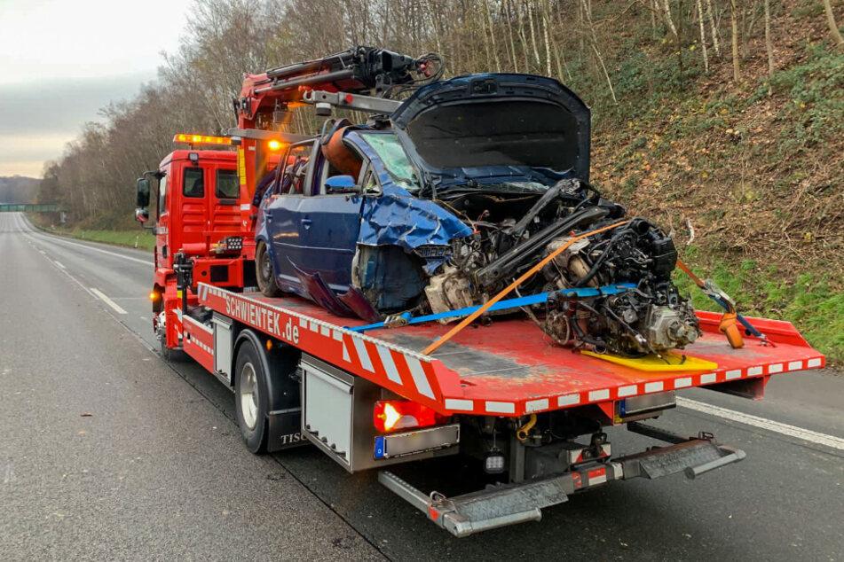 Unfall auf A1: Autofahrer überschlägt sich mehrfach