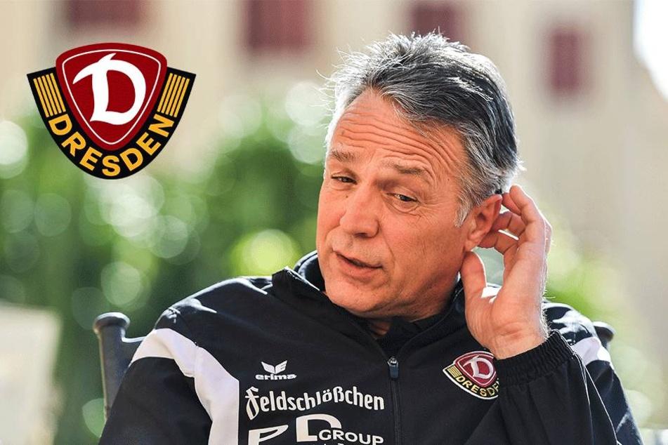 Trainer Uwe Neuhaus beim Fazit-Gespräch über das Trainingslager.
