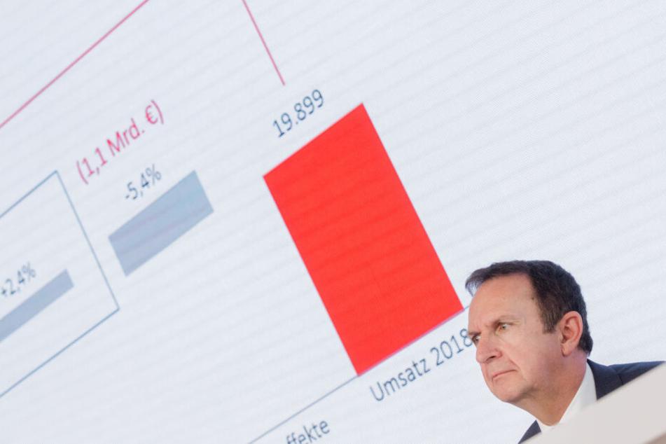 Der Henkel-Chef Has Van Bylen bei der Vorstellung der Zahlen.