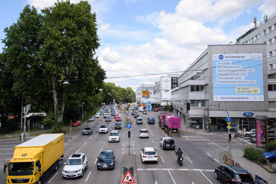 Am Neckartor staut der sich der Verkehr besonders häufig.