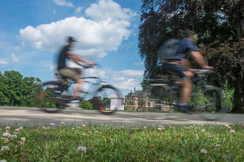 Ein 82-jähriger Radler verletzte sich im Großen Garten lebensgefährlich.