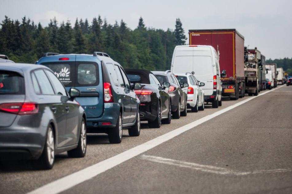 So werden die Autobahnen in den Ferien häufig aussehen.