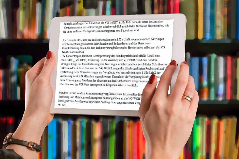 Digitale Lehrtexte könnten an Hochschulen bald der Vergangenheit angehören.