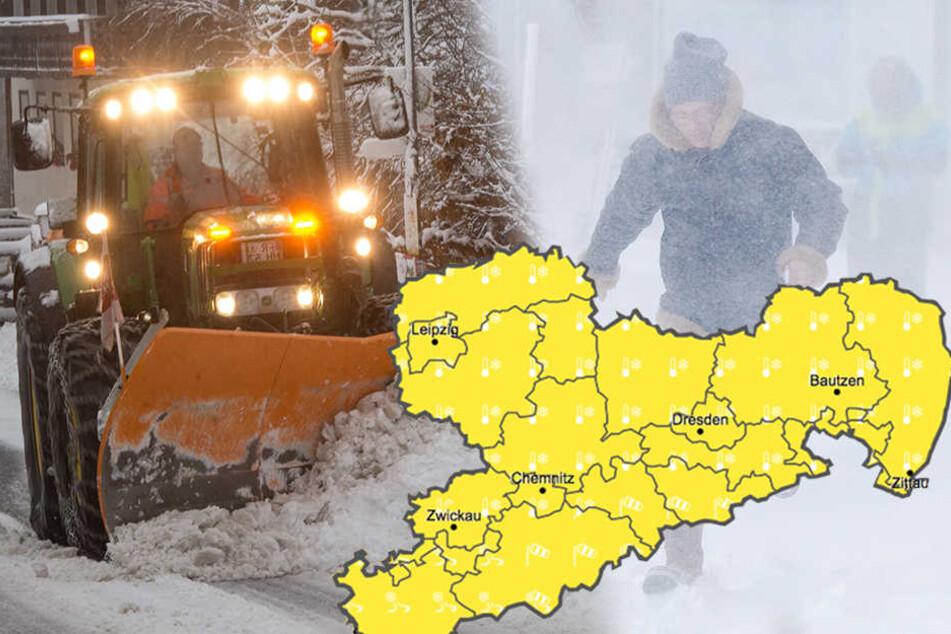 Polarluft, Dauerfrost und Schnee: Jetzt rollt der Winter auf Sachsen zu