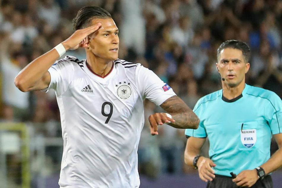Davie Selke wurde vor zwei Jahren mit Deutschlands U21 Europameister. (Archivbild)