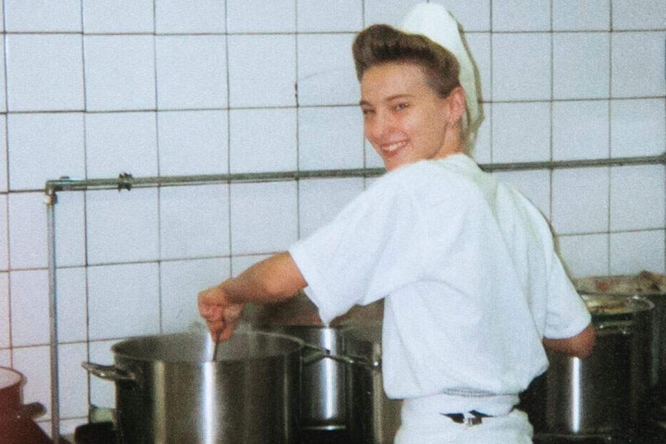 Elisabeth während ihrer Ausbildung zur Köchin.