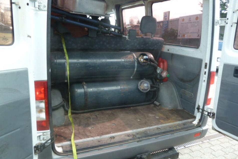 Im Bus befand sich unter anderem eine Autogasanlage.