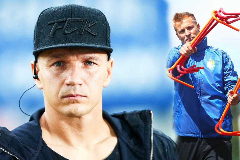 Daniel Frahn (l.) zählt nicht mehr zum Kader von CFC-Coach David Bergner. (Bildmontage)