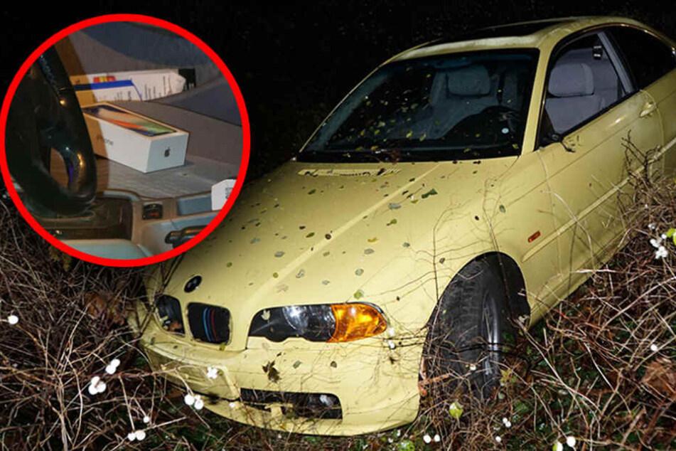 BMW landet im Vorgarten und der Fahrer will es nicht gewesen sein
