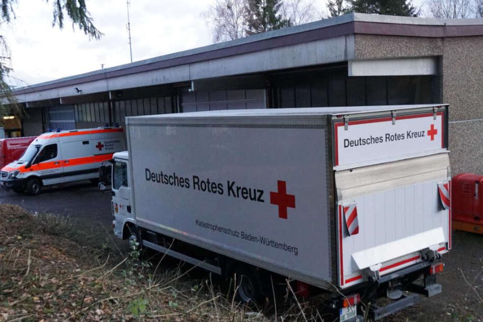 Das Deutsche Rote Kreuz bereitet die Ankunft für die China-Rückkehrer vor.