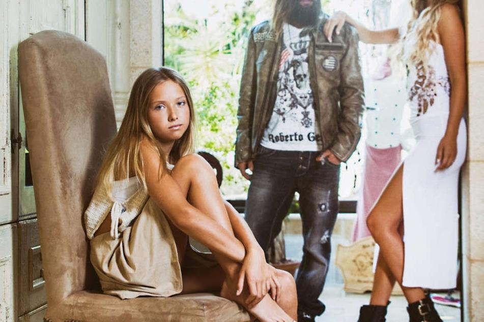 Tochter Shania (14) versuchte sich schon als Model. Im Social Media wird sie aber zunehmend belästigt.