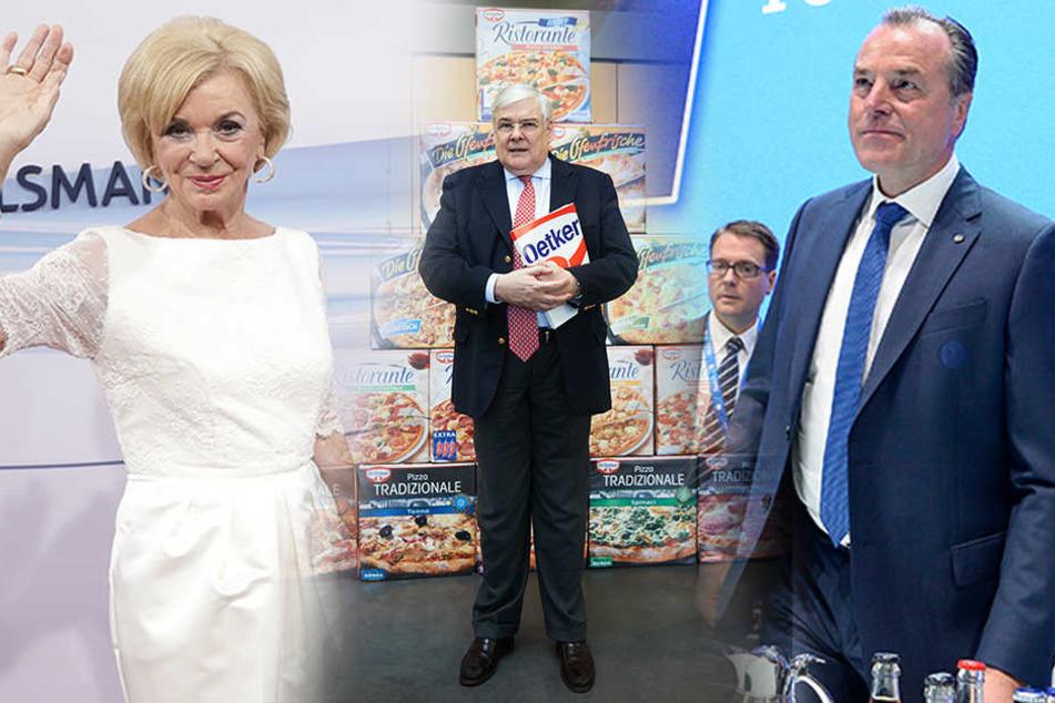 Sowohl Liz Mohn (li.), Richard Oetker (mi.) als auch Clemens Tönnies tauchen in der Liste der reichsten Deutschen auf.